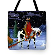 Home For The Holidays Tote Bag by Chholing Taha