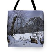 Home Through The Snow Tote Bag by Ron Jones