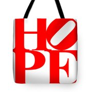 Hope 20130710 Red White Tote Bag by Wingsdomain Art and Photography