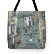 Hopscotch Down The Hill Tote Bag by Peter Adderley