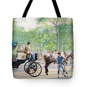 Horse And Carriage Tote Bag by Anthony Butera