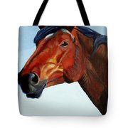 Horse Head Tote Bag by Mike Jory