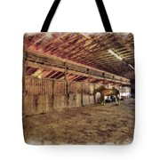 Horse In Barn Tote Bag by Dan Friend
