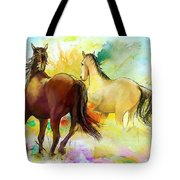Horse Paintings 009 Tote Bag by Catf