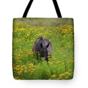 Horse Power Flower Power Tote Bag by Bob Hislop