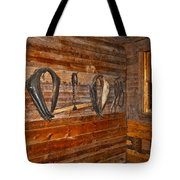 Horse Stable Tote Bag by Frozen in Time Fine Art Photography