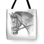 Horse's Head with Bridle Tote Bag by Sarah Parks