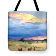 Horses On The Storm 2 Tote Bag by James BO  Insogna