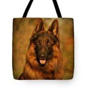 Hoss - German Shepherd Dog Tote Bag by Sandy Keeton