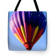 Hot Air Ballooning In Vermont Tote Bag by Edward Fielding