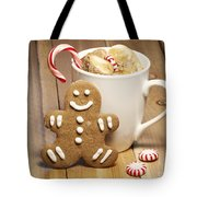 Hot Chocolate Toasted Marshmallows and a Gingerbread Cookie Tote Bag by Juli Scalzi