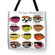 Hot Cuppa Whimsical Colorful Coffee Cup Designs By Romi Tote Bag by Megan Duncanson