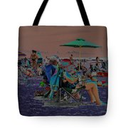 Hot Day At The Beach - Solarized Tote Bag by Suzanne Gaff
