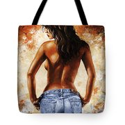 Hot Jeans 02 Blue Tote Bag by Emerico Imre Toth