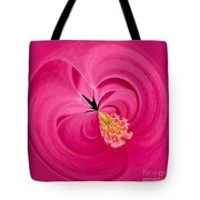 Hot Pink And Round Tote Bag by Anne Gilbert