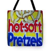 Hot Pretzels Tote Bag by Skip Willits
