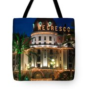 Hotel Negresco By Night Tote Bag by Inge Johnsson