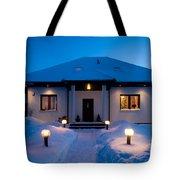 House In Winter Tote Bag by Michal Bednarek