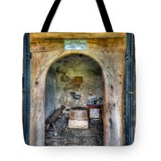 House Of God Tote Bag by Adrian Evans