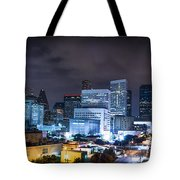 Houston City Lights Tote Bag by David Morefield