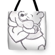 Huggable Pooh Bear Tote Bag by Melissa Vijay Bharwani
