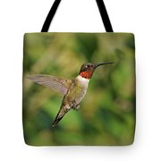 Hummingbird In Flight Tote Bag by Sandy Keeton