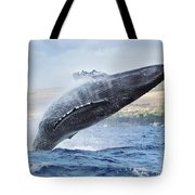 Humpback Whale Tote Bag by M Swiet Productions