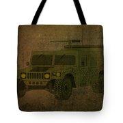 Humvee Midnight Desert  Tote Bag by Movie Poster Prints