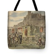 Hungarian Gypsies Outside Carcassonne Tote Bag by French School