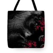 Hunger - Dark And Blood Red Fractal Art Tote Bag by Matthias Hauser