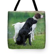 Hunting Dogs 1 Tote Bag by Rachel Munoz Striggow