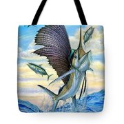 Hunting Of Small Tunas Tote Bag by Terry Fox