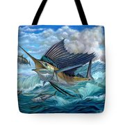 Hunting Sail Tote Bag by Terry Fox