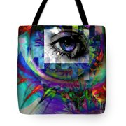 I Abstract Tote Bag by Elizabeth McTaggart