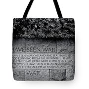 I Hate War Tote Bag by Allen Beatty
