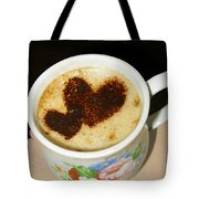 I Love You. Hearts In Coffee Series Tote Bag by Ausra Paulauskaite
