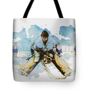 Ice Hockey Tote Bag by Corporate Art Task Force