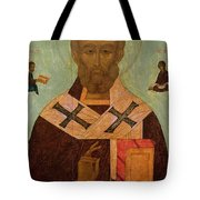 Icon Of St. Nicholas Tote Bag by Russian School