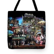 ICONS OF HISTORY AND ENTERTAINMENT Tote Bag by Ylli Haruni