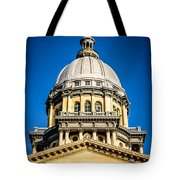 Illinois State Capitol Dome In Springfield Illinois Tote Bag by Paul Velgos