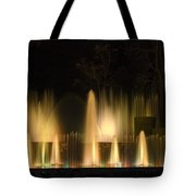 Illuminated Dancing Fountains Tote Bag by Sally Weigand