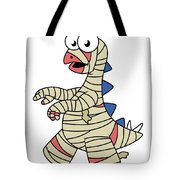 Illustration Of A Stegosaurus Dressed Tote Bag by Stocktrek Images