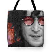 Imagine John Lennon Again Tote Bag by Tony Rubino