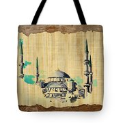 Impressionistic Masjid E Nabwi Tote Bag by Catf