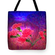 Impressions Of Pink Carnations Tote Bag by Joyce Dickens