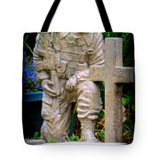 In Honor Of The Wounded Warrior Tote Bag by Kay Novy
