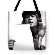 In Studio John Lennon Tote Bag by Iconic Images Art Gallery David Pucciarelli