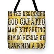 In the Beginning... Tote Bag by Debbie DeWitt