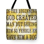 In The Beginning... Tote Bag by Debbie DeWitt