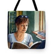 In The Book Store Tote Bag by Irina Sztukowski